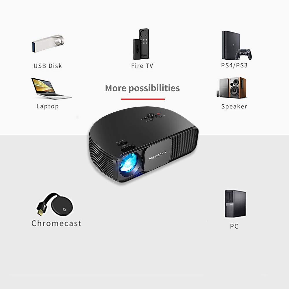 RANDEMFY Proyector HD 1080P, proyector LED de Alta eficiencia de ...
