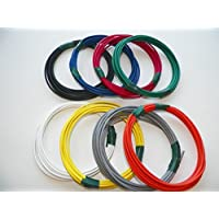 Automotive Copper Wire, GXL, 12 GA, AWG, GAUGE Truck, Motorcycle, RV, General Purpose. Order by 3pm EST Shipped Same Day (8 Colors 25 Each) (8 COLORS 25 EACH)