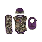 Browning Baby Set, Camo, Mossy Oak Country Sunset Purple Camo, 6 MO, Pack Of 1