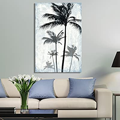 Tropical Palm Trees on Rustic Background 12