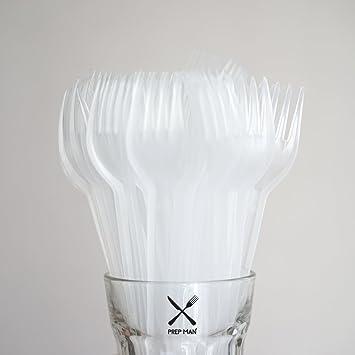 """prepman – 100 6,5 """"tenedores cubertería de plástico transparente desechables ..."""
