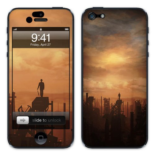 Diabloskinz B0081-0054-0009 Vinyl Skin für Apple iPhone 5/5S Industria