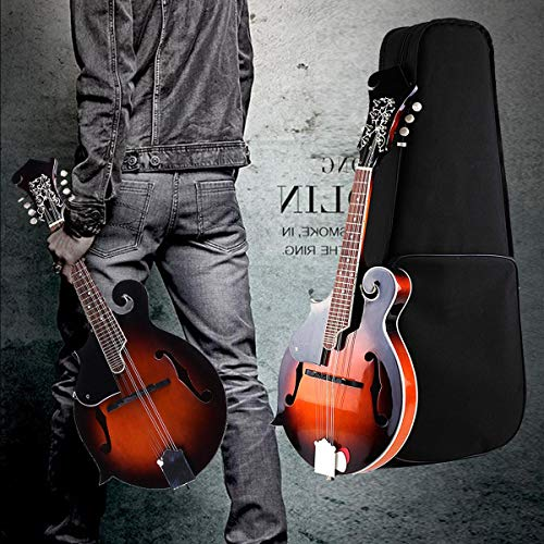 8 String Mandolin F-Style 24 Fret Electric Mandolin Acoustic Instrument Paulownia with Case Gifts