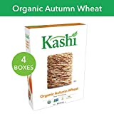Kashi Organic Autumn Wheat Breakfast Cereal - Vegan | 16.3 Oz Box (Pack of 4)