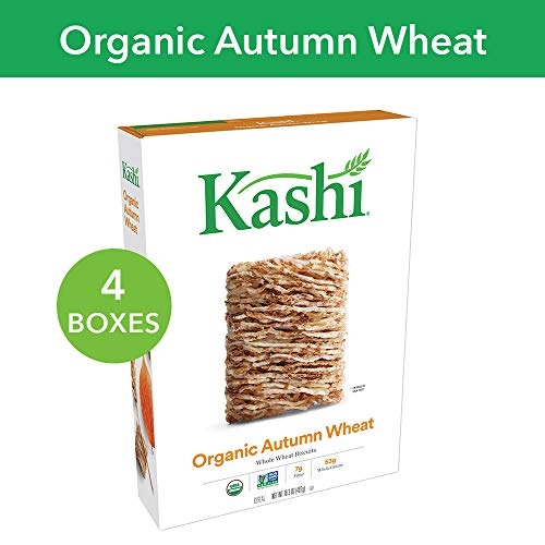 (Kashi, Breakfast Cereal, Organic Autumn Wheat, Non-GMO Project Verified, 16.3 oz(Pack of 4) )