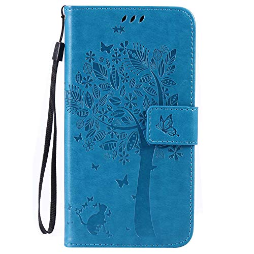 LG G4 Wallet Case, UNEXTATI Leather Flip Cover Case with Kickstand Feature for LG G4 (Blue #5)