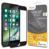 iPhone 7 Plus Screen Protector, rooCASE Full Coverage Tempered Glass Screen Protector for Apple iPhone 7 Plus 5.5 Inch - 3D Edge to Edge Coverage, 9H Hardness, Scratch-Resistant, Black