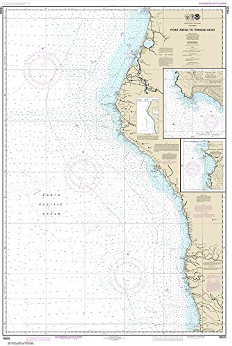 Paradise Cay Publications NOAA Chart 18620: Point Arena to Trinidad Head; Rockport Landing; Shelter Cove 32.7 x 48.8 (TRADITIONAL PAPER) ()