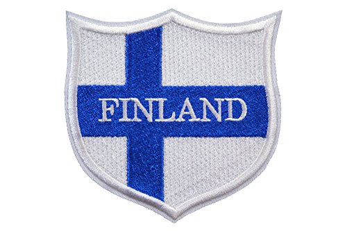 World Flags Embroidered Patch Shield Over 100 Custom Flags of Countries Across The World! Europe, Asia, Americas, Africa. Iron or Sew On. 100% Made in The USA (3.3, Finland)