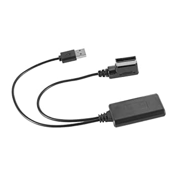Bluetooth USB Audio Line AUX IN Adapter Cable for Cars with AMI MMi 2G