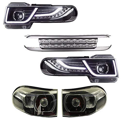 JDMSPEED New LED Halo Headlight (With Grille And Tail Light) For Toyota FJ Cruiser 2007-2015