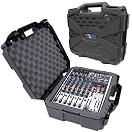 CASEMATIX 17″ Hard Shell Audio Mixer Travel Case Compatible with Behringer Xenyx X1204USB, 1204USB, QX1204USB, Q1204USB, 1202FX, 1202, 802, Q802USB, QX1202USB, QX1002USB, 1002B, Q1202USB