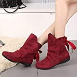 GIFC Clearance Fashion Women Shoes Round Toe Lace Up Buckle Roman Ankle Short Boots Ladies Martin Boots