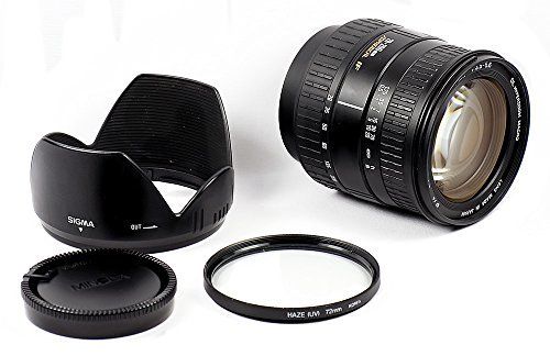 Sigma DL 28-200mm Autofocus Zoom Lens Aspherical IF Macro for Sony Alpha A Mount / Konica / Minolta, Made in Japan + 72mm UV Filter + Sigma Lens Hood + Minolta Rear Cap - AS IS or for Parts / Repair (Part Mount Rear Repair)
