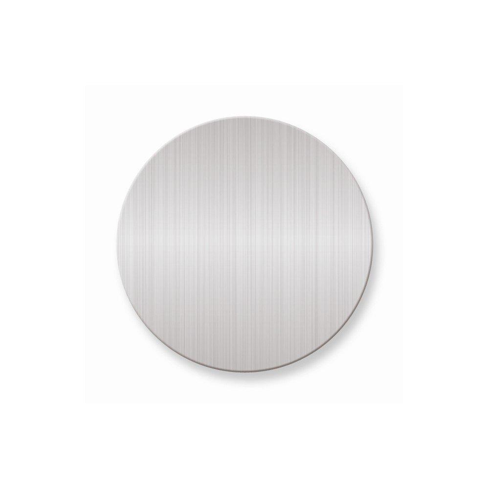 1 3/4 x 1 3/4 Round Satin Alum Plates-Sets of 6