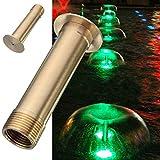 Kisstaker 1 Inch Brass Fountain Mushroom Spray Head Garden Landscape Fountain Nozzle