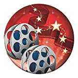 Creative Converting 24 Count Hollywood Lights Lunch Plates, 7, Red/White/Black