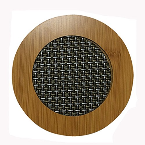 Creative Moso Bamboo Place Mat/ Cup Mat/ Pot Holder, Circle, Set of 4