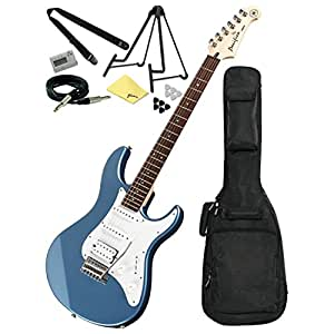 yamaha pacifica pac112j electric guitar lake blue w gig bag and accessory pack. Black Bedroom Furniture Sets. Home Design Ideas