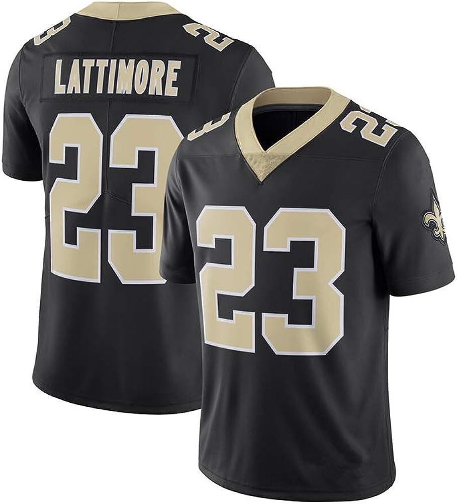 Camiseta de Rugby Marshon Lattimore #23 Taysom Hill #7 Camiseta de f/útbol Americano de los New Orleans Saints Sudadera Deportiva de Manga Corta Unisex Fitness Bordado Transpirable Limpieza repetible
