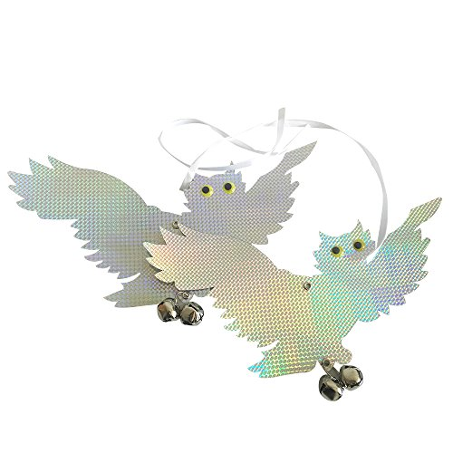 Mr. Garden Bird Scarer & Deterrent Hanging Owl Holographic Reflective Flying Owl Bird Repellent, 2Pack by Mr Garden