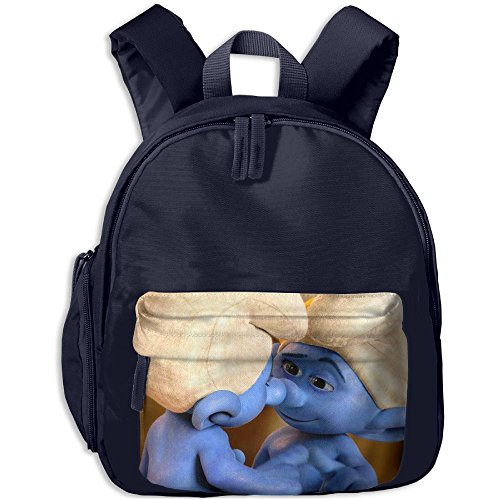 Baby Boys Girls Toddler Smurfs The Lost Village Clumsy Smurf Preschool Lunch Bag Navy - Diy Anime School Girl Costume