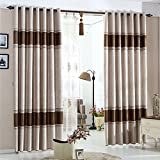 Cheap KoTing Home Fashion Brown European Pattern Embossing Country Thermal Insulated Room Darkening Curtain Grommet Top,1 Panel,50 by 100-Inches