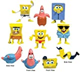 "SpongeBob SquarePants 8 - 1"" to 1.5"" FIGURES Figurine Set"