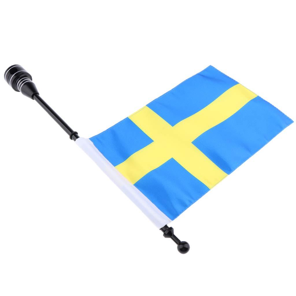 1 Bandiera Paese Supporto Portabagagli Universale Accessorio Moto Custom