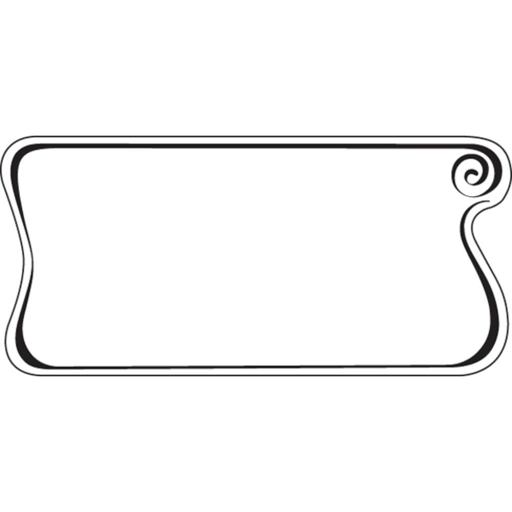 Deli Tag Write on Style with Whirl Design White Heat Resistant Merchandising Tag - 4 1/4 L x 2 1/8 H, 12/Bag