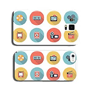Photo & video modern flat color icons. cell phone cover case iPhone6