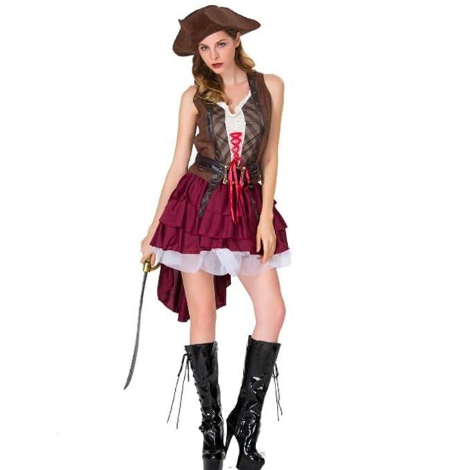 Amazon.com: Disfraz pirata para mujer, adulto, pirata ...