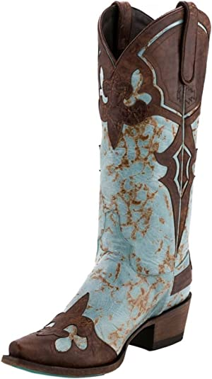 Grey/… Lane Sweet Paisely Womens Western Mid Calf Boot