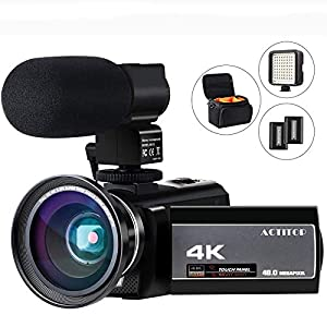 Flashandfocus.com 51MRmENp6ML._SS300_ Video Camera 4K Camcorder Digital FHD WiFi Vlogging Cameras Recorder with Microphone for YouTube 48MP 16X Digital Zoom…