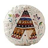 Country Style Sofa Round Cushion Chair Cushion Pillow Seat Pad, No.1