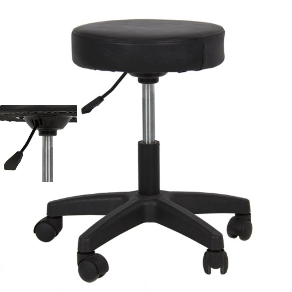 New Adjustable Hydraulic Chair Salon Tattoo Rolling Spa Facial Massage Swivel Stool/Black #246