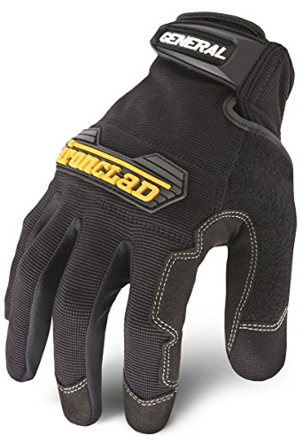 Ironclad General Utility Work Gloves GUG, All-Purpose, Performance Fit, Durable, Machine Washable, Sized XS, S, M, L, XL, XXL (1 Pair) - Fingertip Coated Gloves