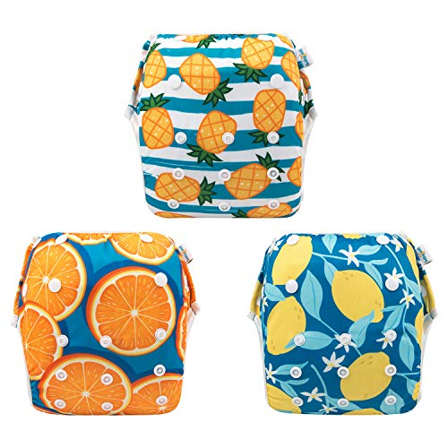 babygoal Reusable Swim Diaper, One Size Adjustable and Washable Swim Underwear Fits 0-2 Years and Swimming Lessons 3SD03 from babygoal