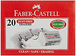 Faber-castell Dust Free Eraser - Small (Pack of 20)
