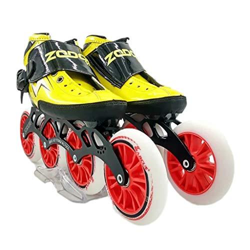 優先泥沼上に築きますNUBAOgy インラインスケート、90-110ミリメートル直径の高弾性PUホイール、4色で利用可能な子供のための調整可能なインラインスケート (色 : 黒, サイズ さいず : 38)