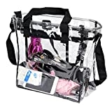 PUSTOR Clear tote bag stadium approved Compliant Clear CrossBody Messenger Shoulder Bag By