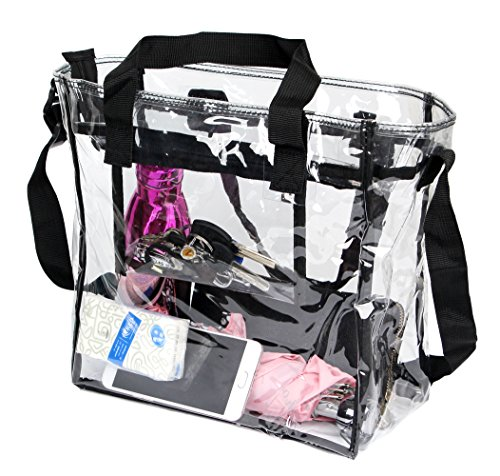 PUSTOR Clear tote bag stadium approved Compliant Clear CrossBody Messenger Shoulder Bag By by PUSTOR