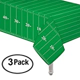 Pack of 3 game Day Football Touchdown Tablecover 54'x78' and 1 letter banner by Oojami
