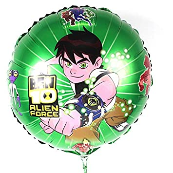 Kit 20 Baloes Metalizados Ben 10 Desenho Animado Amazon Com Br