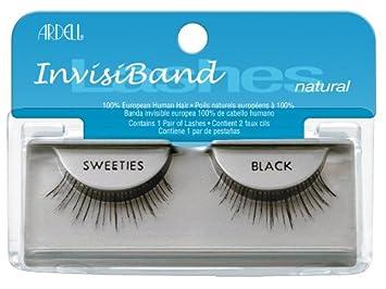 3ef85fa4c1b Amazon.com : Ardell Invisiband Lashes, Sweeties Black, 1 Pair : Fake  Eyelashes And Adhesives : Beauty