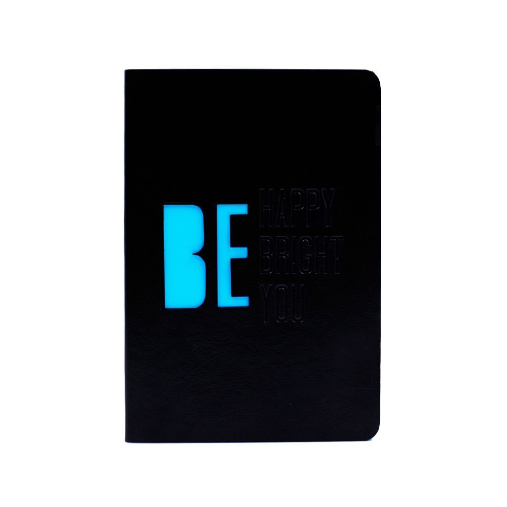 Doodle Luminary - Blue Writing Journal Notebook, Soft Cover, PU Leather, Unruled, 80 GSM, 200 Pages, B6 (7'' x 4.75'')