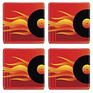 Luxlady Square Coasters IMAGE ID 640313 top song Great for your design and art work