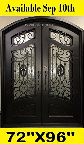 IRON DOORS FRONT EXTERIOR DOORS DARK BRONZE 72''x 96'' DGD1080ABP ()