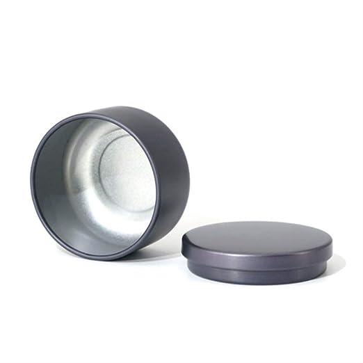SDTING 1 unids 20 ml Té Galletas Dulces Caja de Almacenamiento de Galletas Caja de Metal Redonda Banquete de Boda Organizador Contenedor: Amazon.es: Hogar