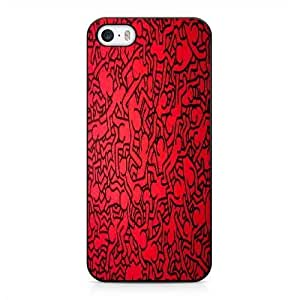iPhone 5 5s SE Case Black keith haring_012